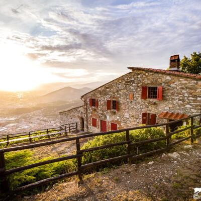 Casa Bastone al tramonto